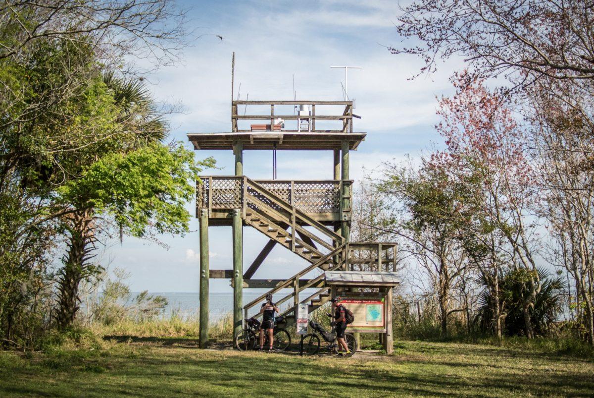The tower that overlooks Lake Apopka