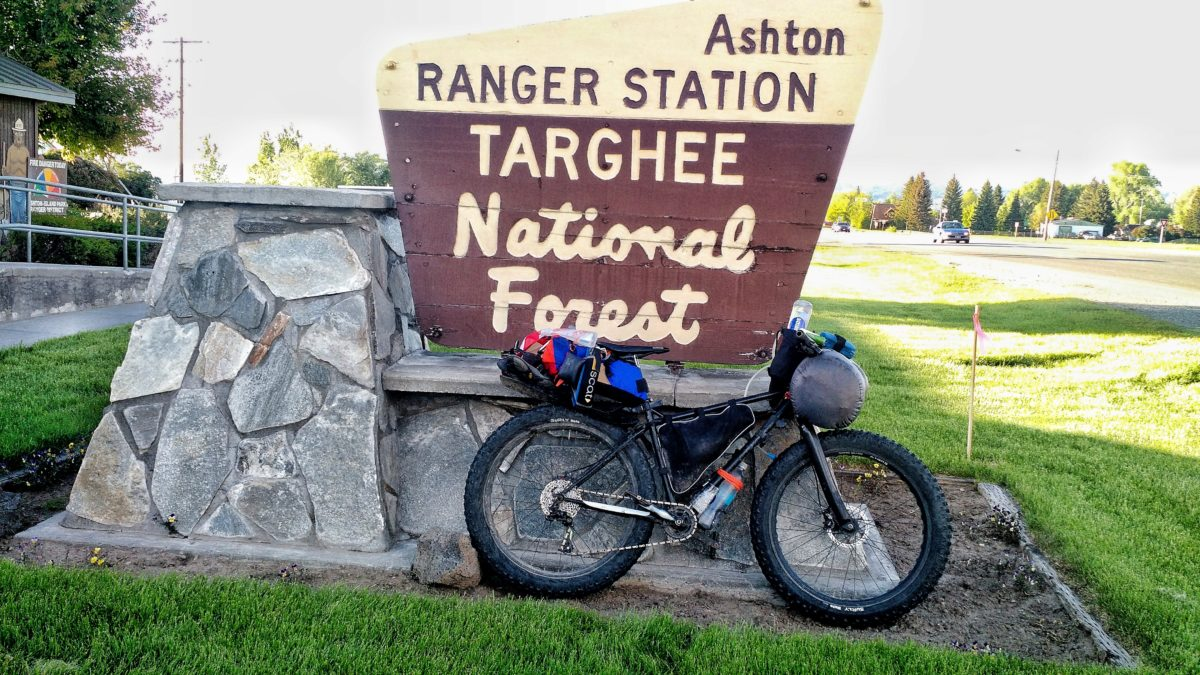 My bike at the Forest Service Ranger Station.