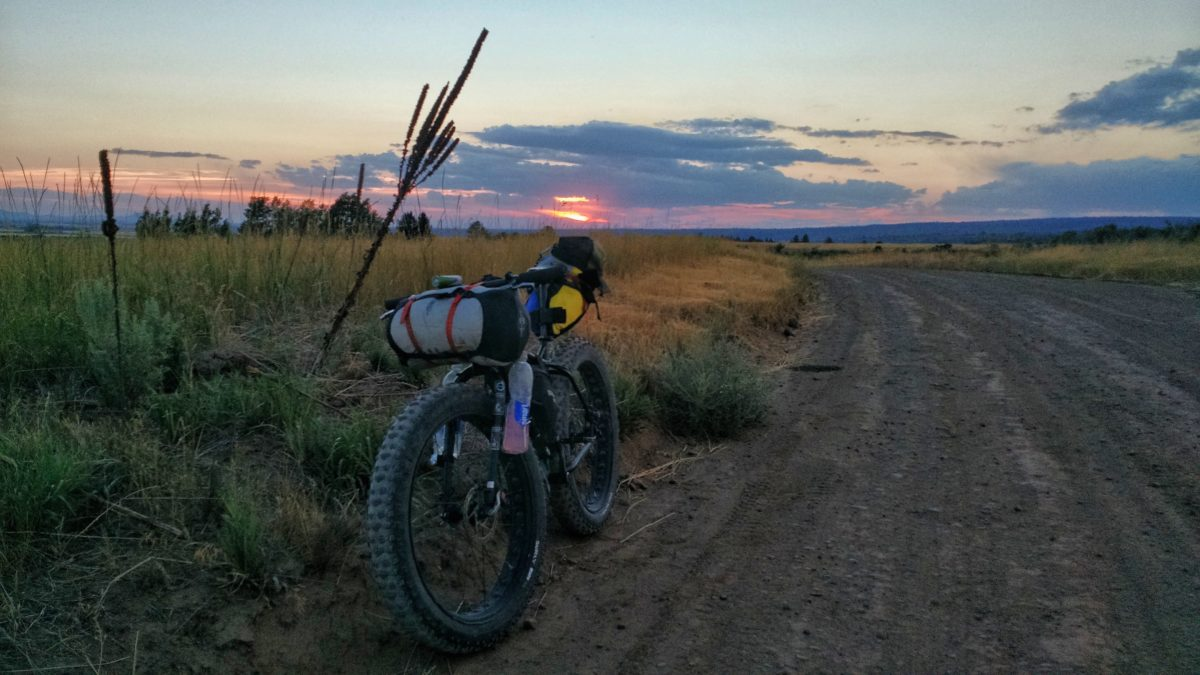 Riding into the sunset is one of the most gratifying things you can do while bikepacking.