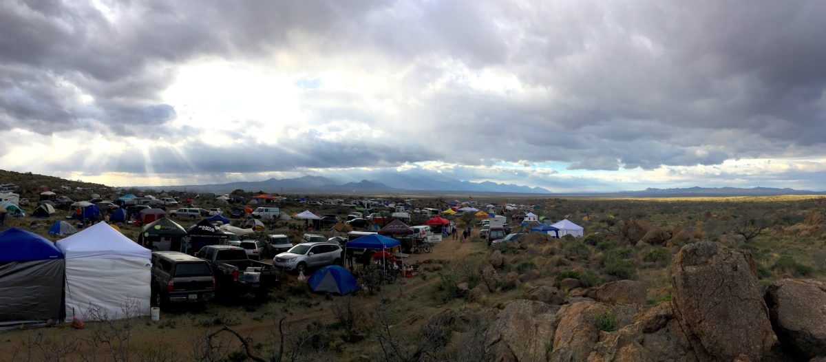 Pano of the morning of the race (Saturday). The calm before the storm. Looking down from near the top of Solo Alley.