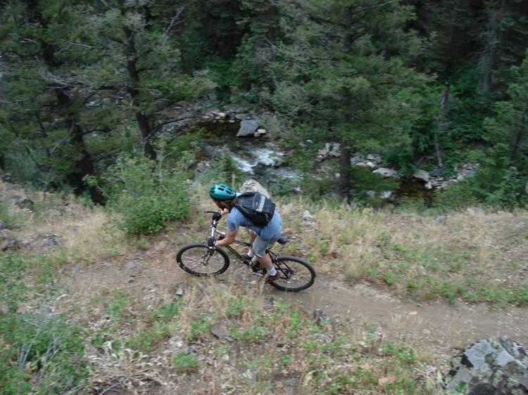 For most of the Rock Creek ride, there's significant exposure with the creek far below (photo: dauw)