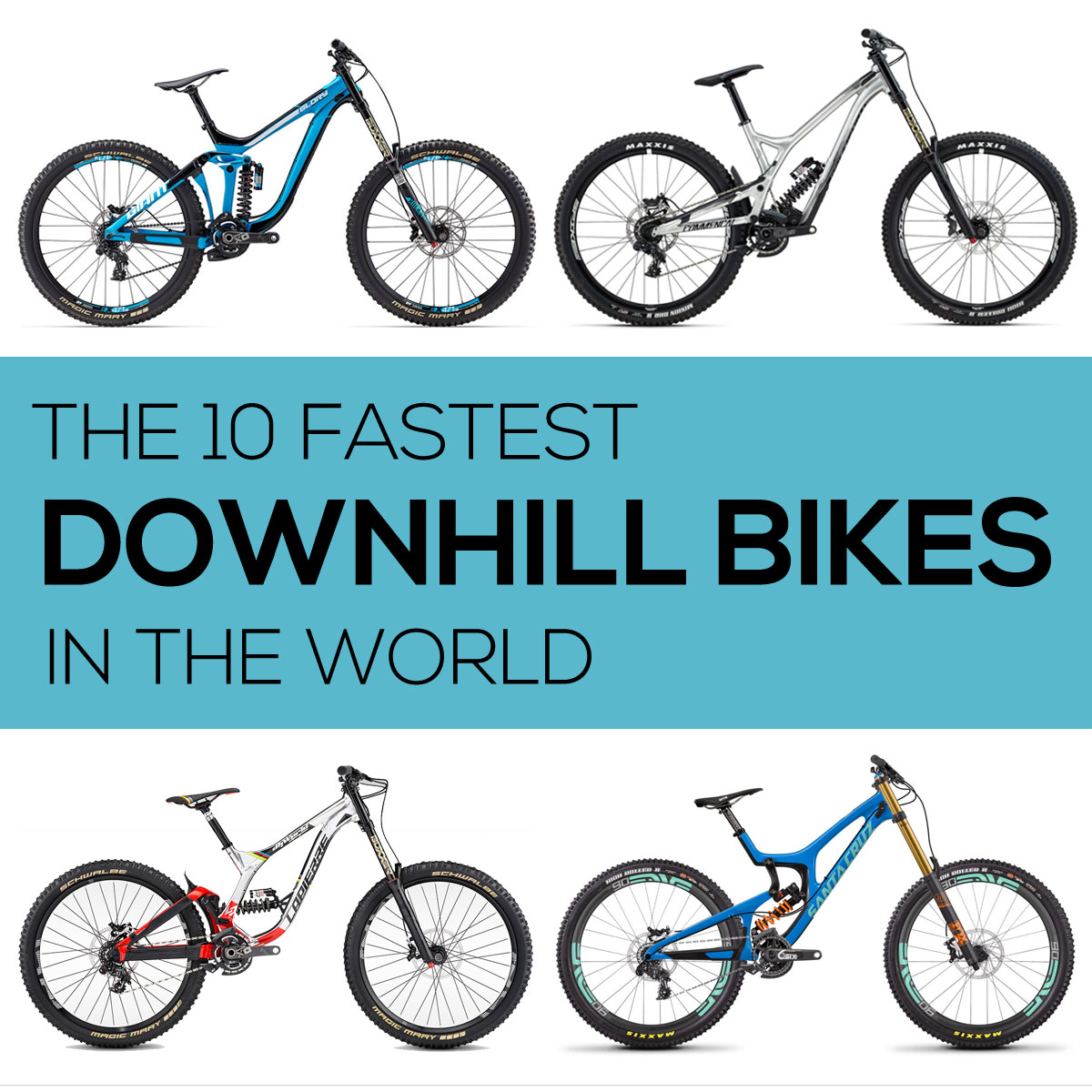 10 fastest downhill mountain bikes in the world