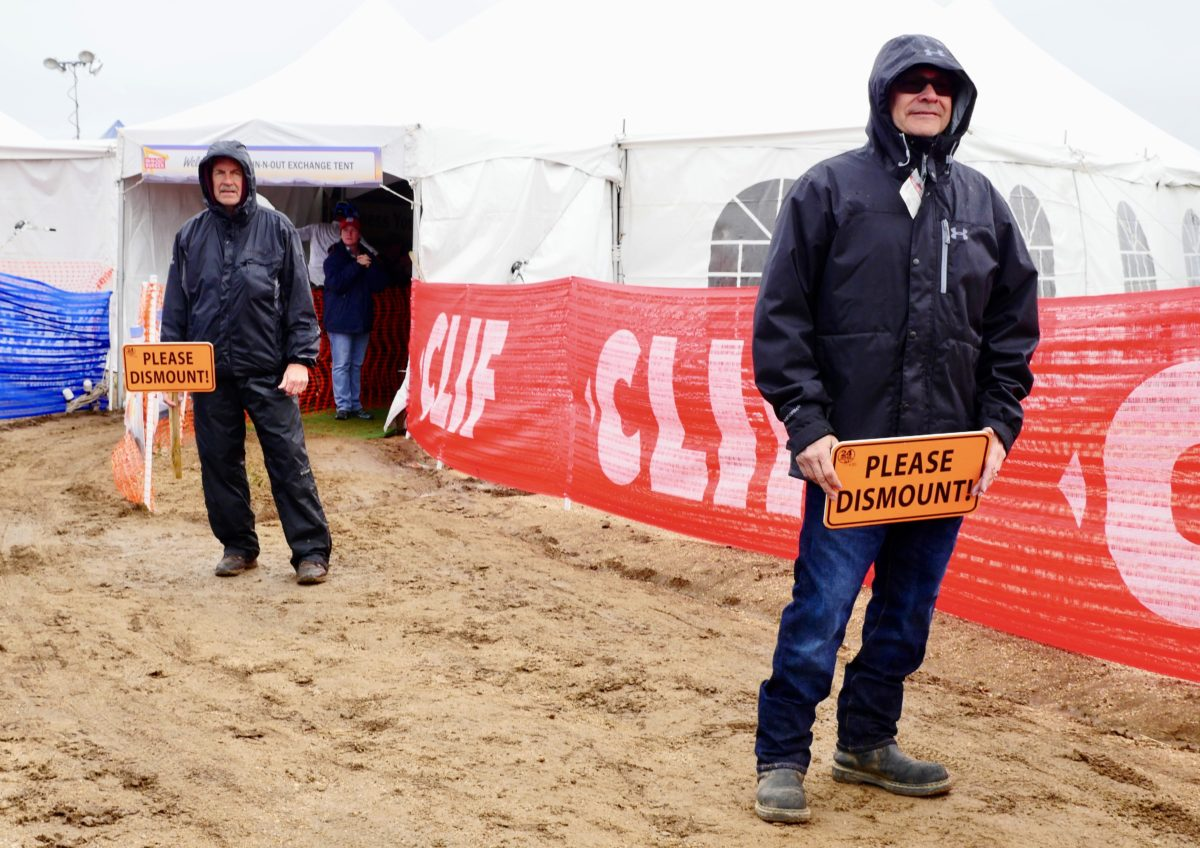 Volunteers like these guys make racing happen. And they were there doing the job without complaint despite the conditions.