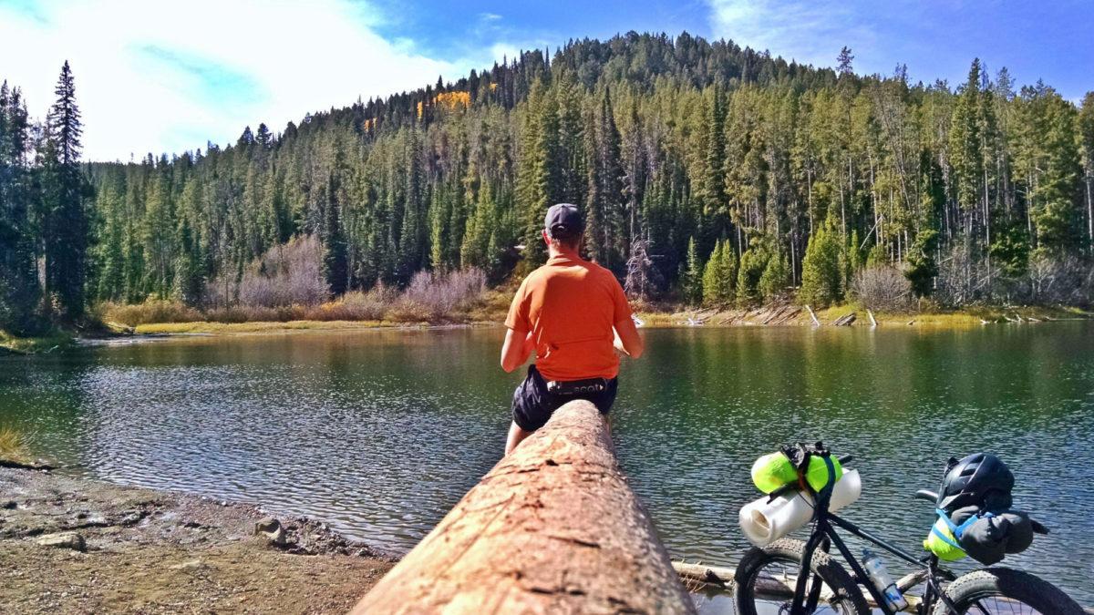 Enjoying Packsaddle Lake all to myself in the Big Hole Mountains