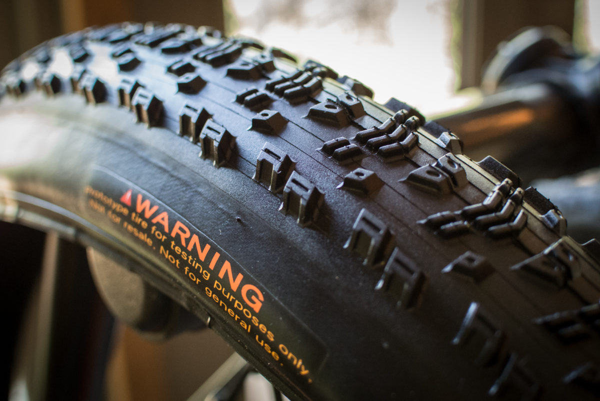 This was a pretty cool story. Before the 2016 Olympics, Nino Schurter and his team did independent rolling resistance testing and found that the Maxxis Aspen came in at the lowest. He came to Maxxis and asked them to make tires specifically for Rio. These may look similar to the production version, but they use a 170 TPI casing that is for race use only.