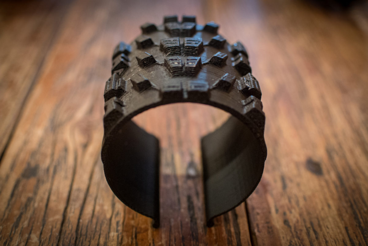 3D printers give Maxxis' engineers a chance to review designs with athletes before cutting a mold