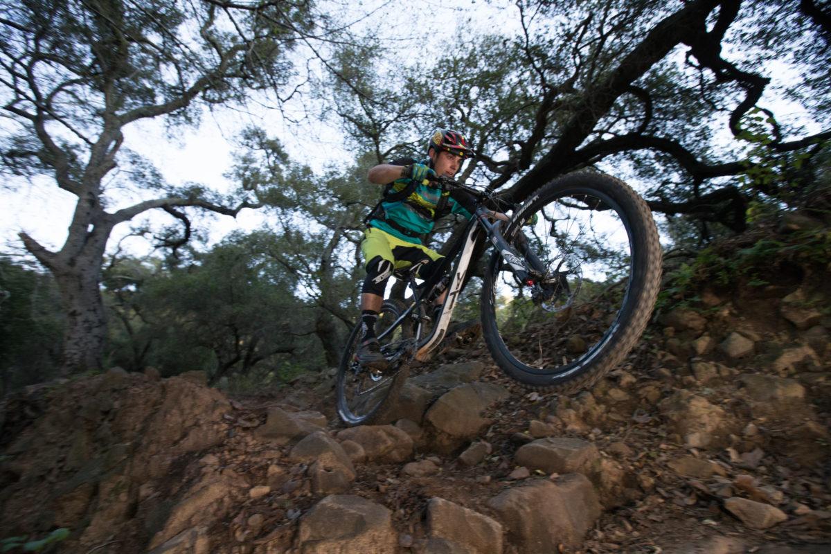 Getting airborne on Romero Canyon. Photo: Wil Matthews