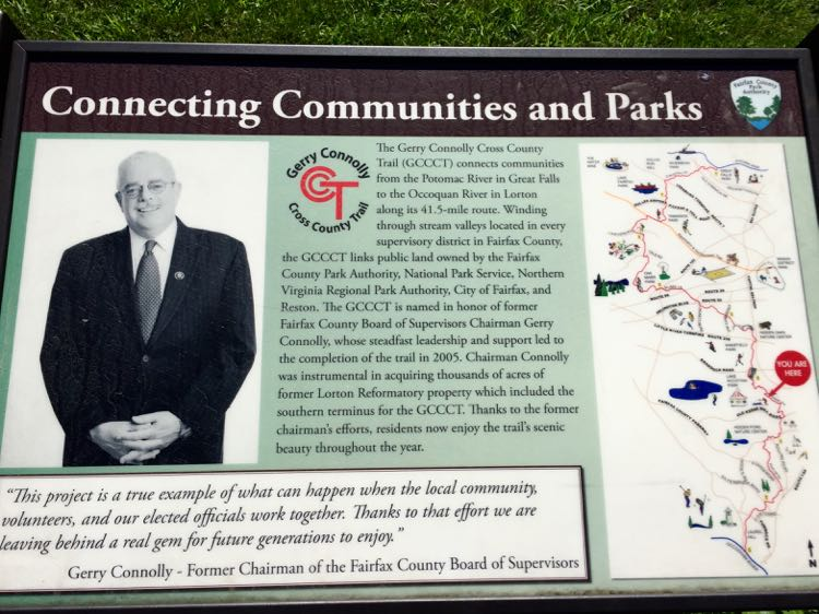Interpretive display on the Gerry Connolly Cross County Trail (photo: connolly.house.gov)