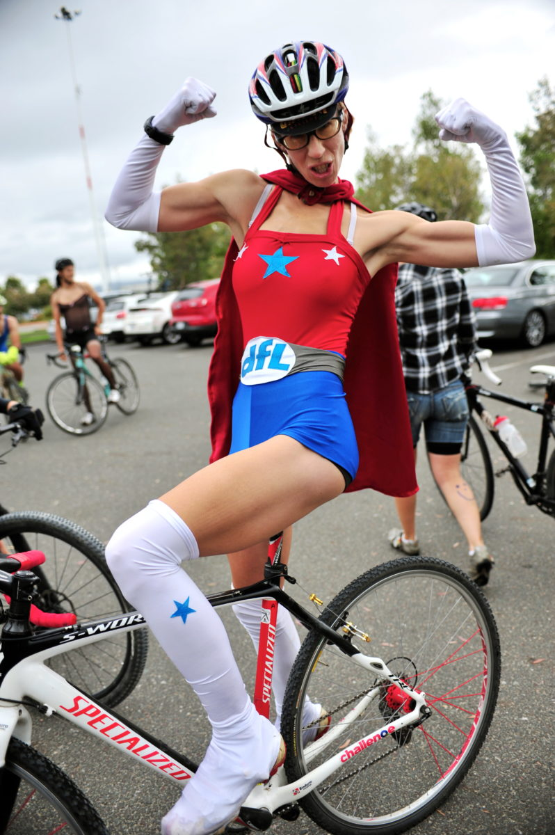 I couldn't not include this photo of Superwoman Rachel Lloyd in an article about being a chick on a bike. Though, to be clear, I'm pretty sure Rachel doesn't fret about being dropped...Photo by Pamela Palma Photography.