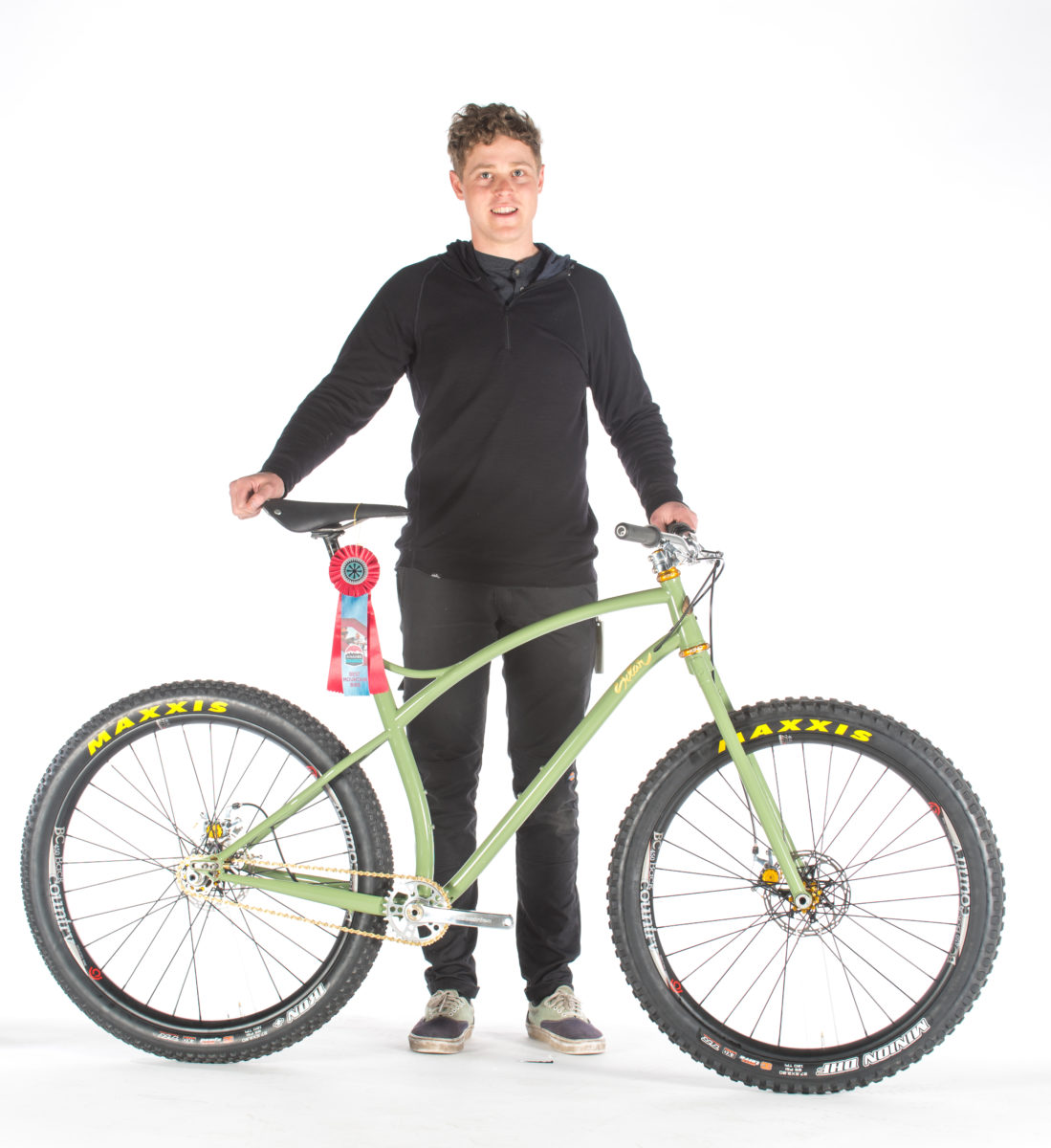 Adam Sklar with his NAHBS-winning bike (photo: ECHOS Communications)
