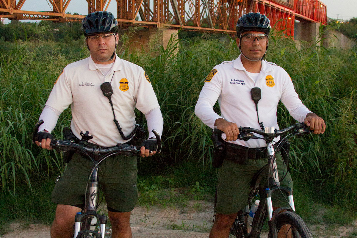 CBP, Border Patrol agents from the Laredo Bike Patrol unit on patrol in South Texas. Photo: Donna Burton, US Government Work