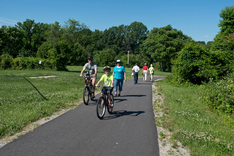 """The W&OD trail is the most """"civilized"""" (and crowded) part of the CCT (photo: fxva.com)"""