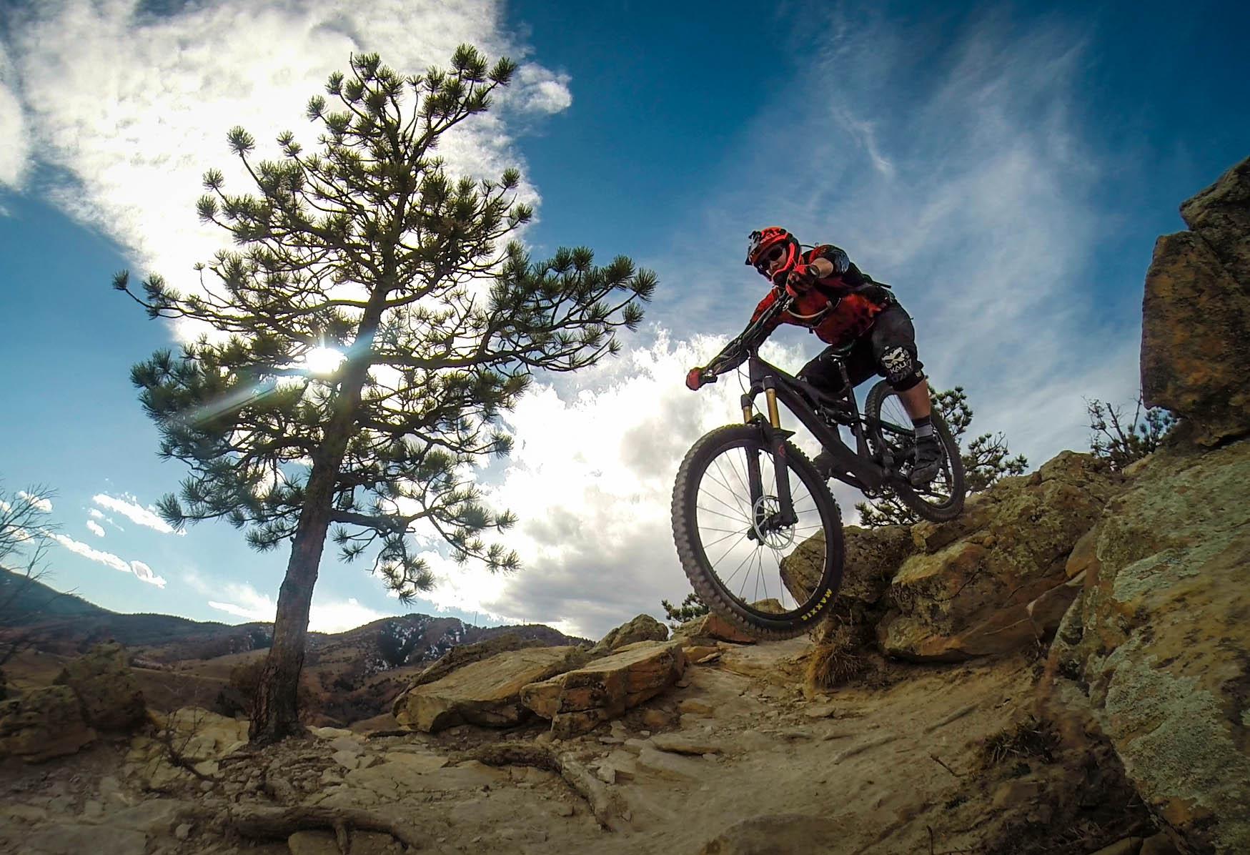 Red Rocks Dakota Ridge Mountain Bike Trail In Denver Colorado