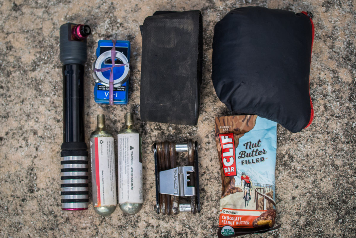 Typical ride supplies