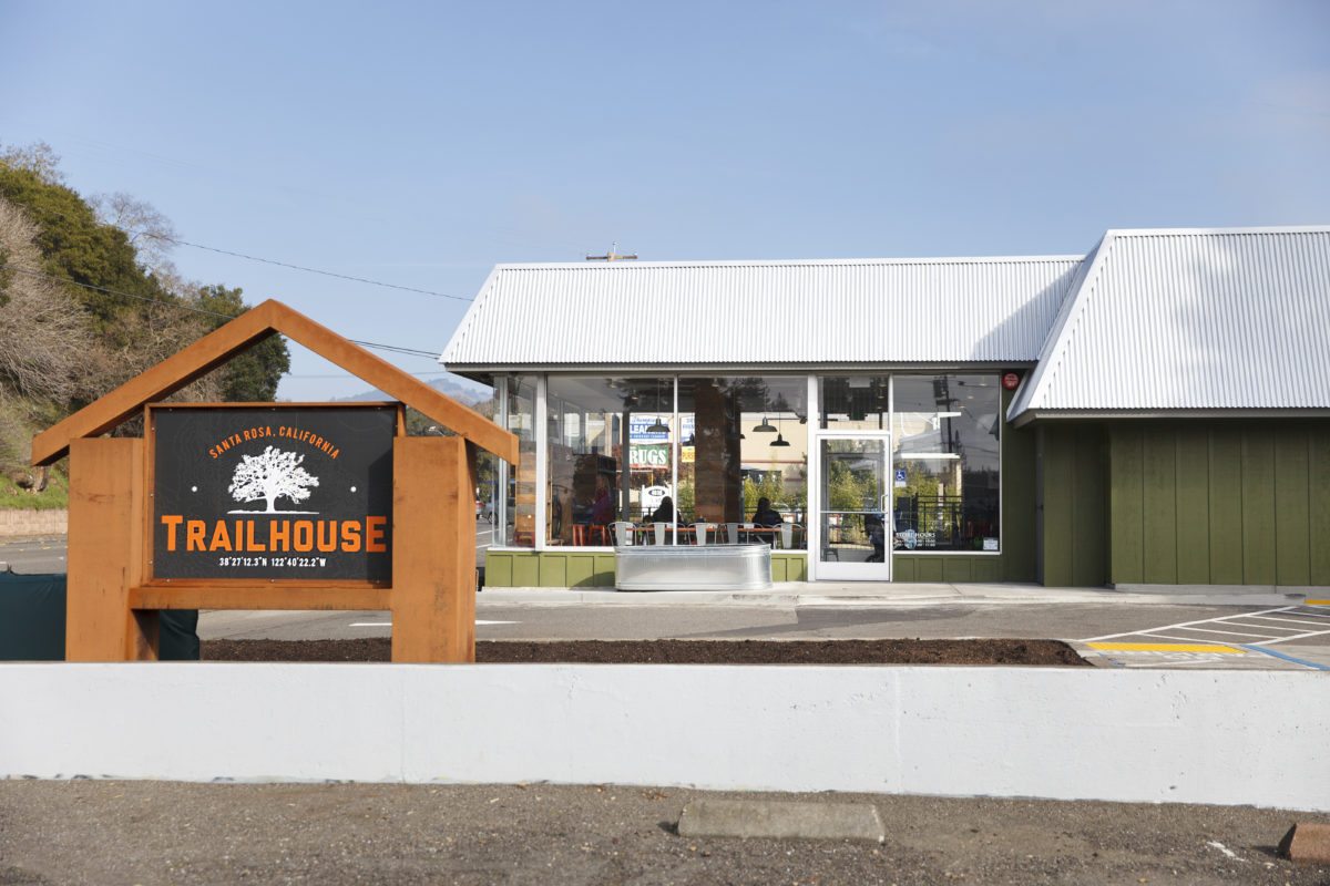 The Trail House is a former Richfield gas station, the city of Santa Rosa's first