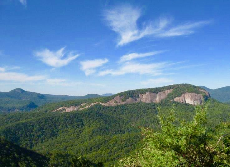 View of Looking Glass Rock from the Bennett Gap Trail. Photo: Greg Heil