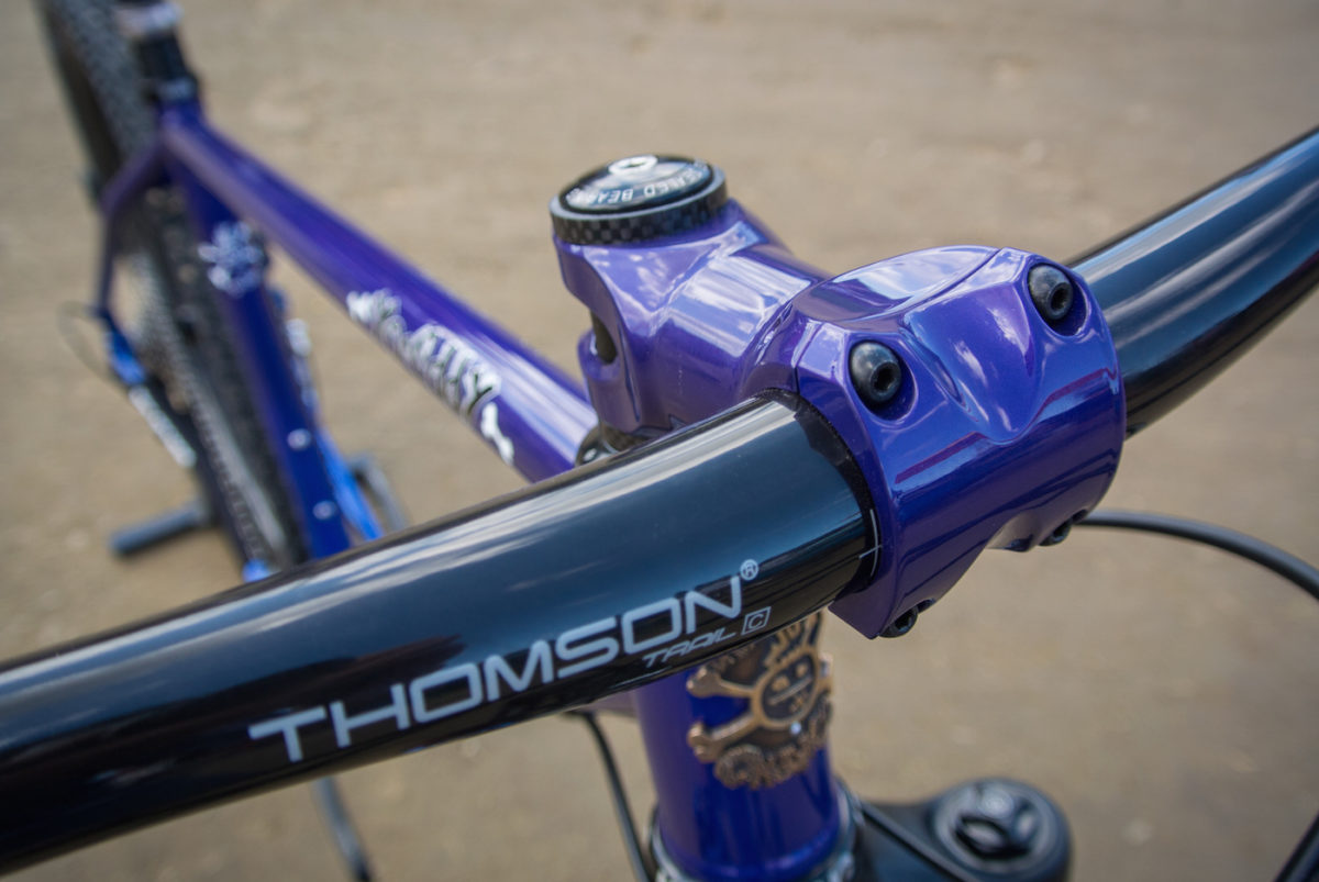 Painted to match stems from Thomson or ENVE are an option