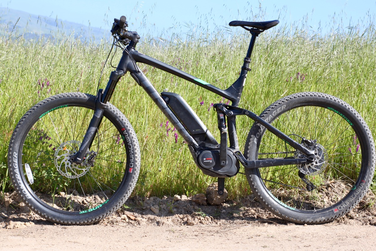 trek powerfly 8 full suspension electric mountain bike review singletracks mountain bike news. Black Bedroom Furniture Sets. Home Design Ideas