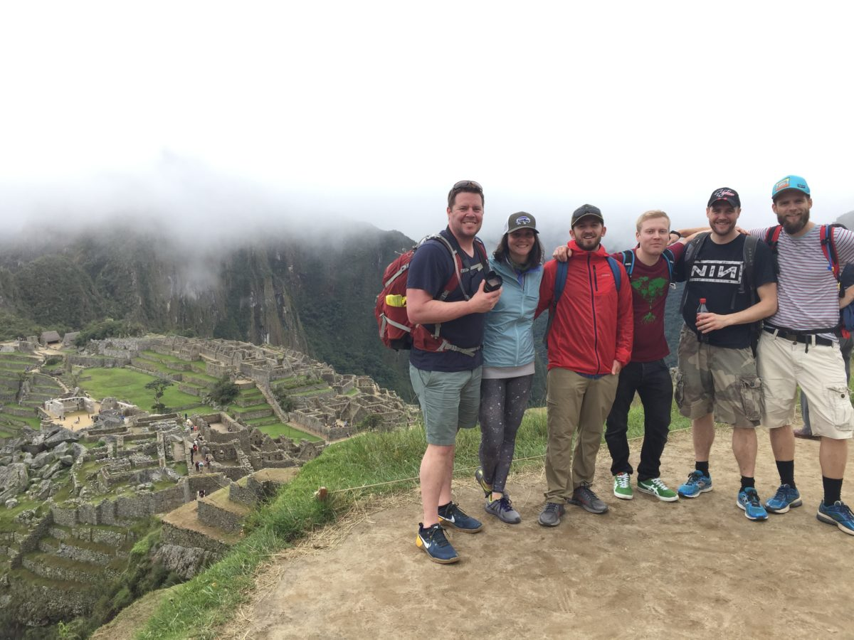 The group visiting amazing Machu Picchu