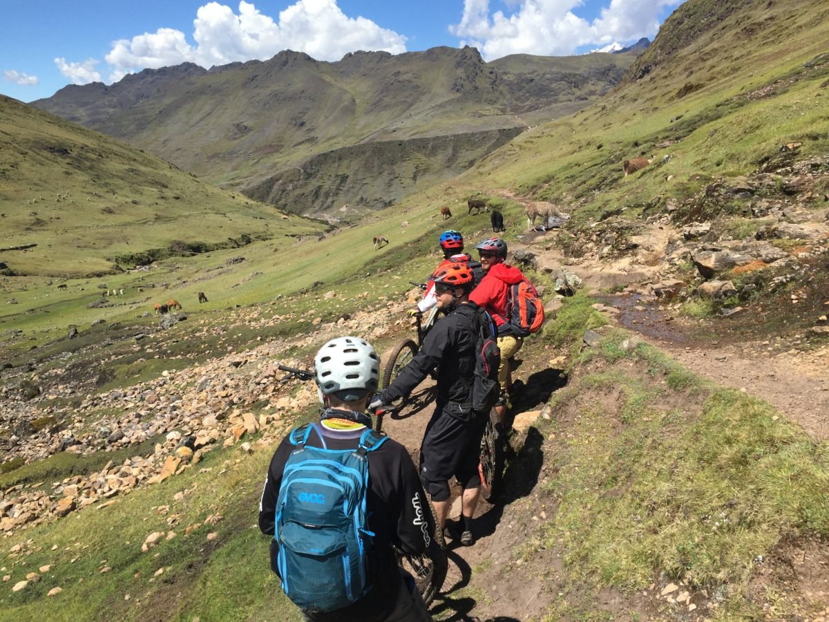 On our way down to Lares Hot Springs