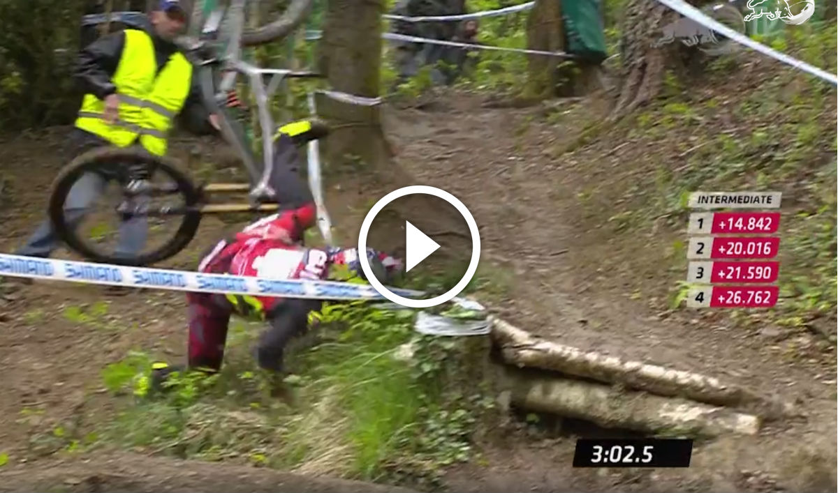 Watch: Aaron Gwin Crashes Twice, Still Finishes Race Run