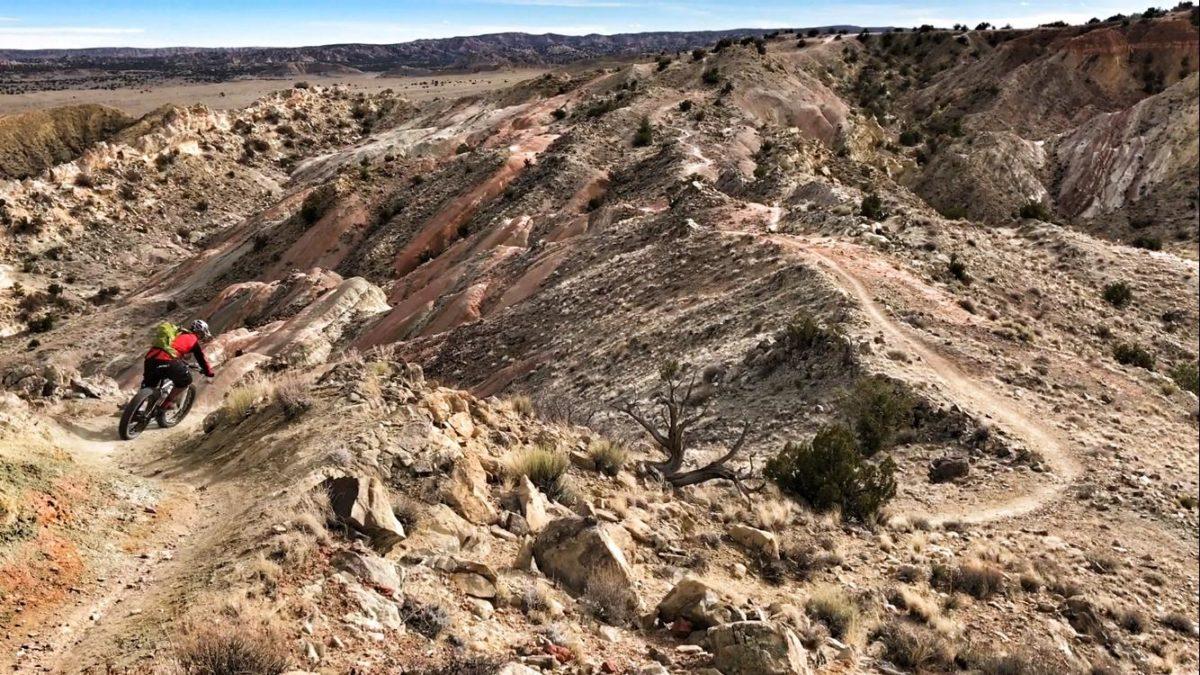 Some of the unique White Mesa topography (photo: Fatbike1)