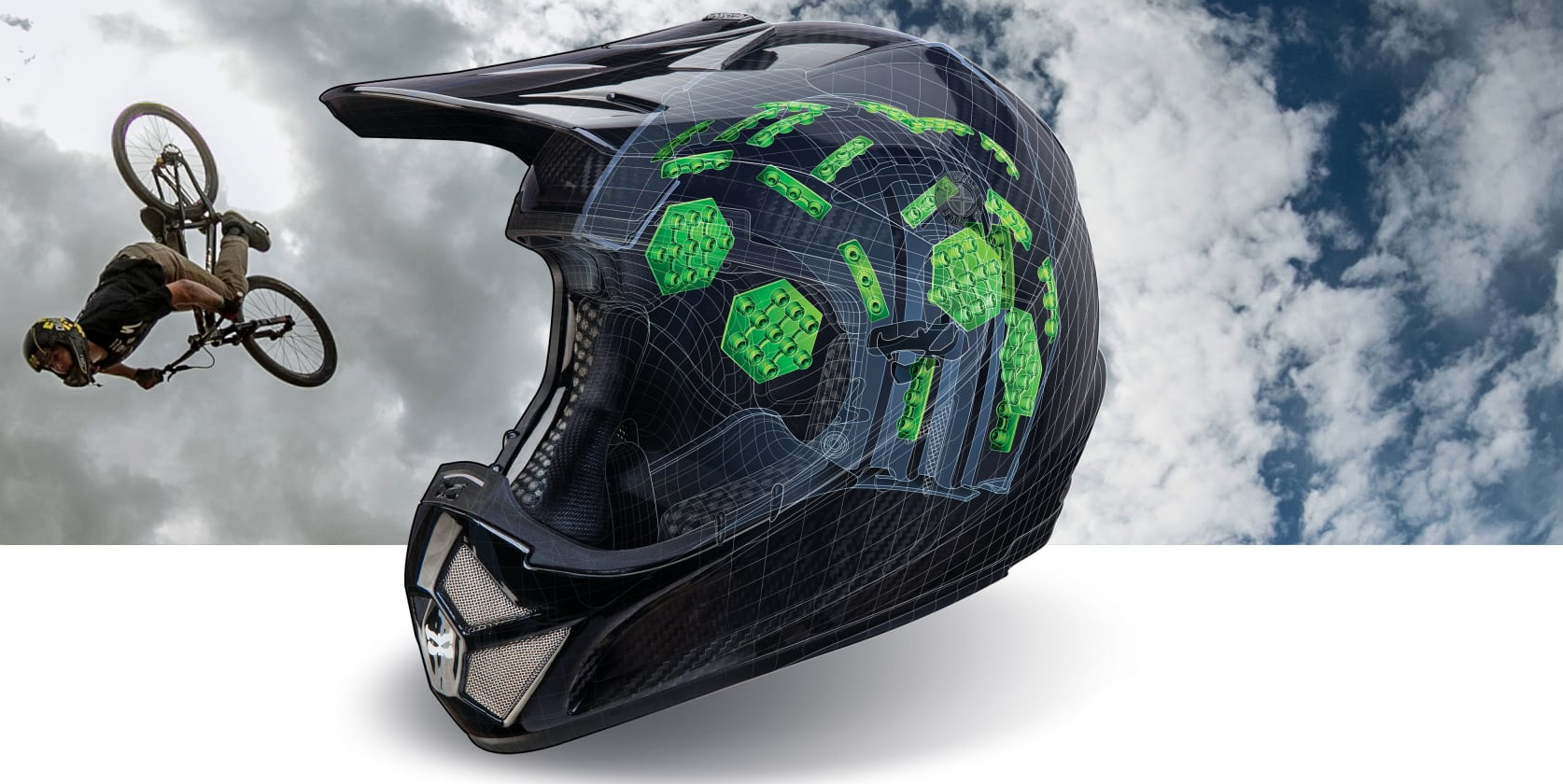 eed9e152136 A new twist on rotational force reduction with Armourgel, used by Kali and  the new Leatt Enduro 3.0. Image: KaliProtectives
