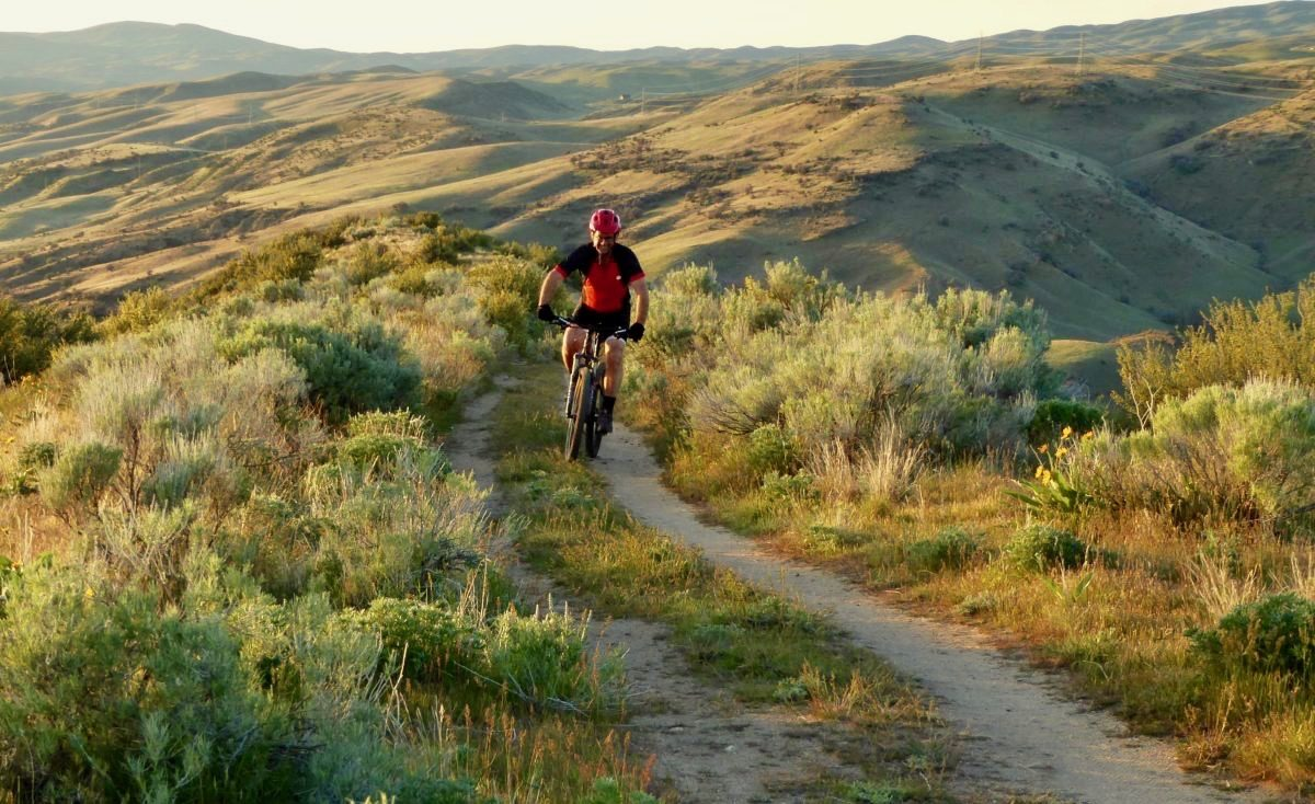 Riding Into The Sunset On The Dusk Patrol Singletracks