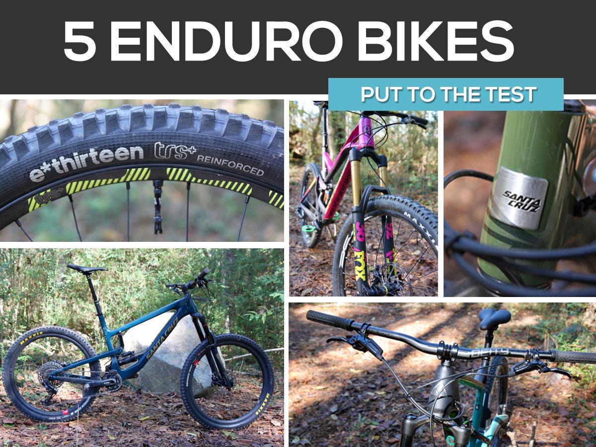 5 enduro mountain bikes put to the test