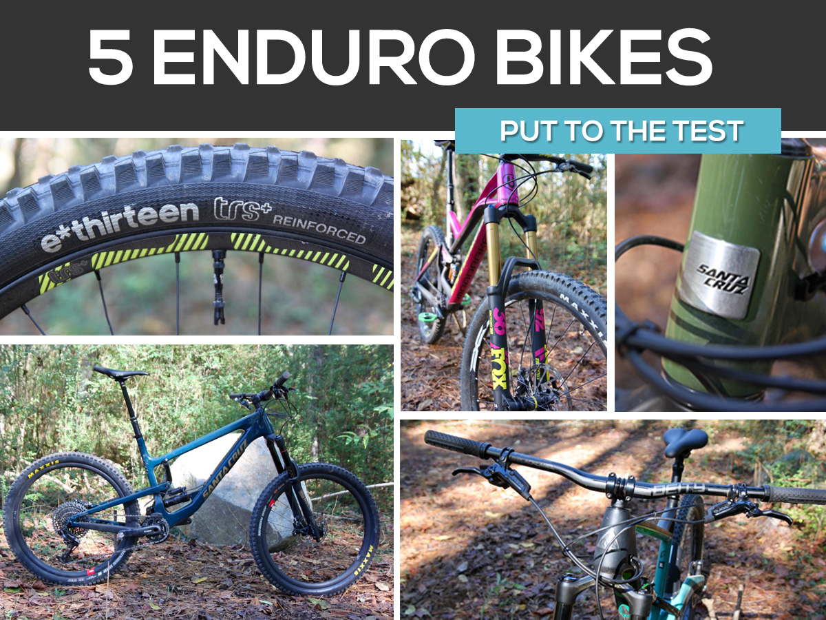 5 enduro mountain bikes put to the test