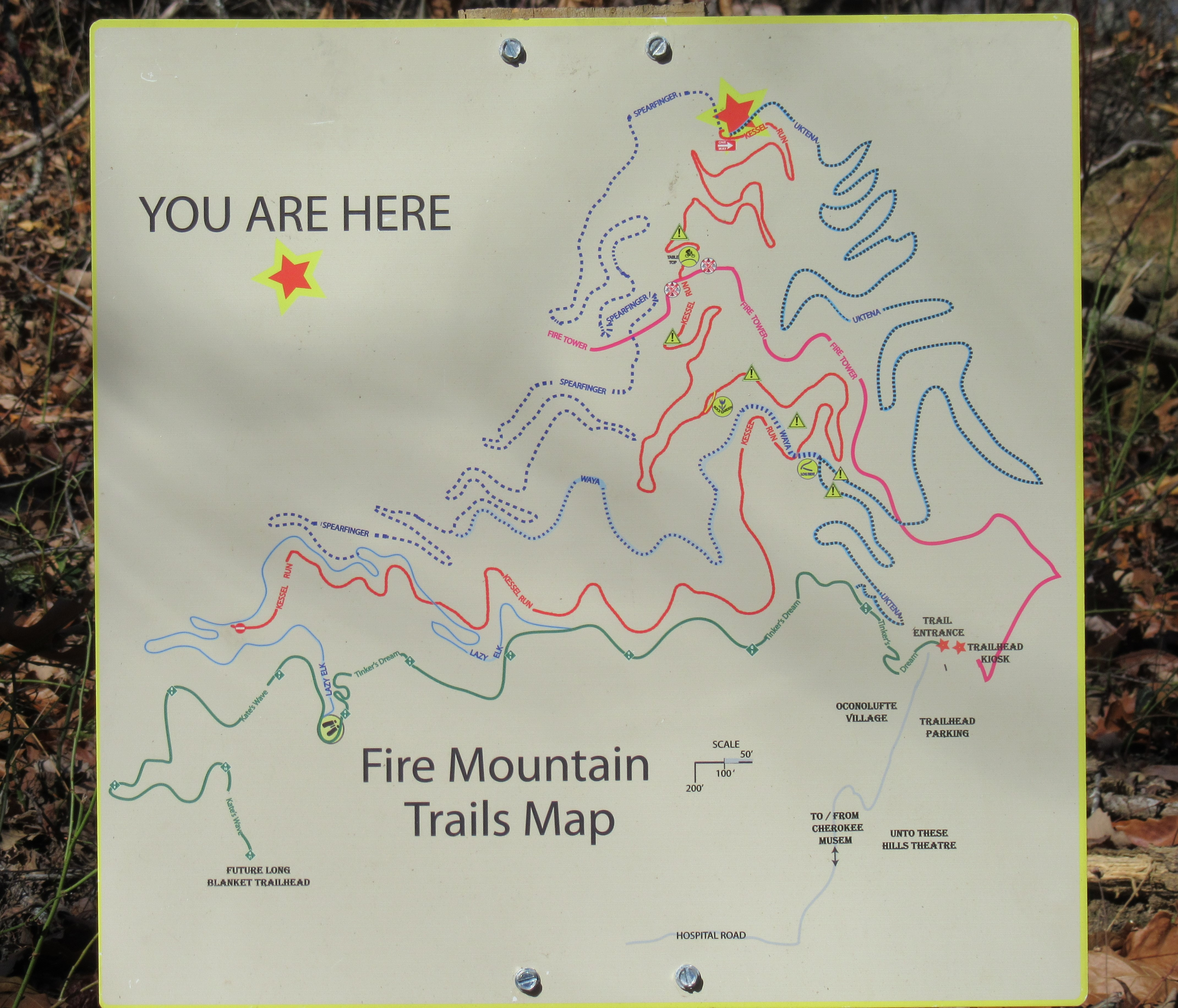 Fire Mtn map - Singletracks Mountain Bike News Cherokee Nc Map on