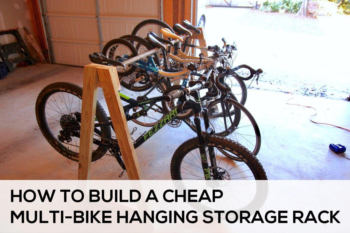 How to Build a Cheap Multi Bike Storage Rack