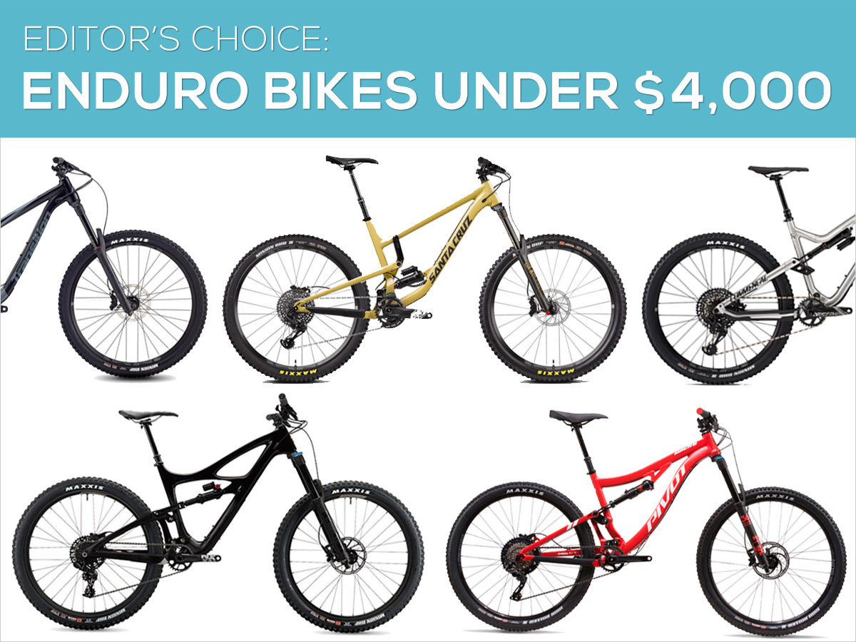 Enduro Mountain Bikes Under $4000 - Editors Choice