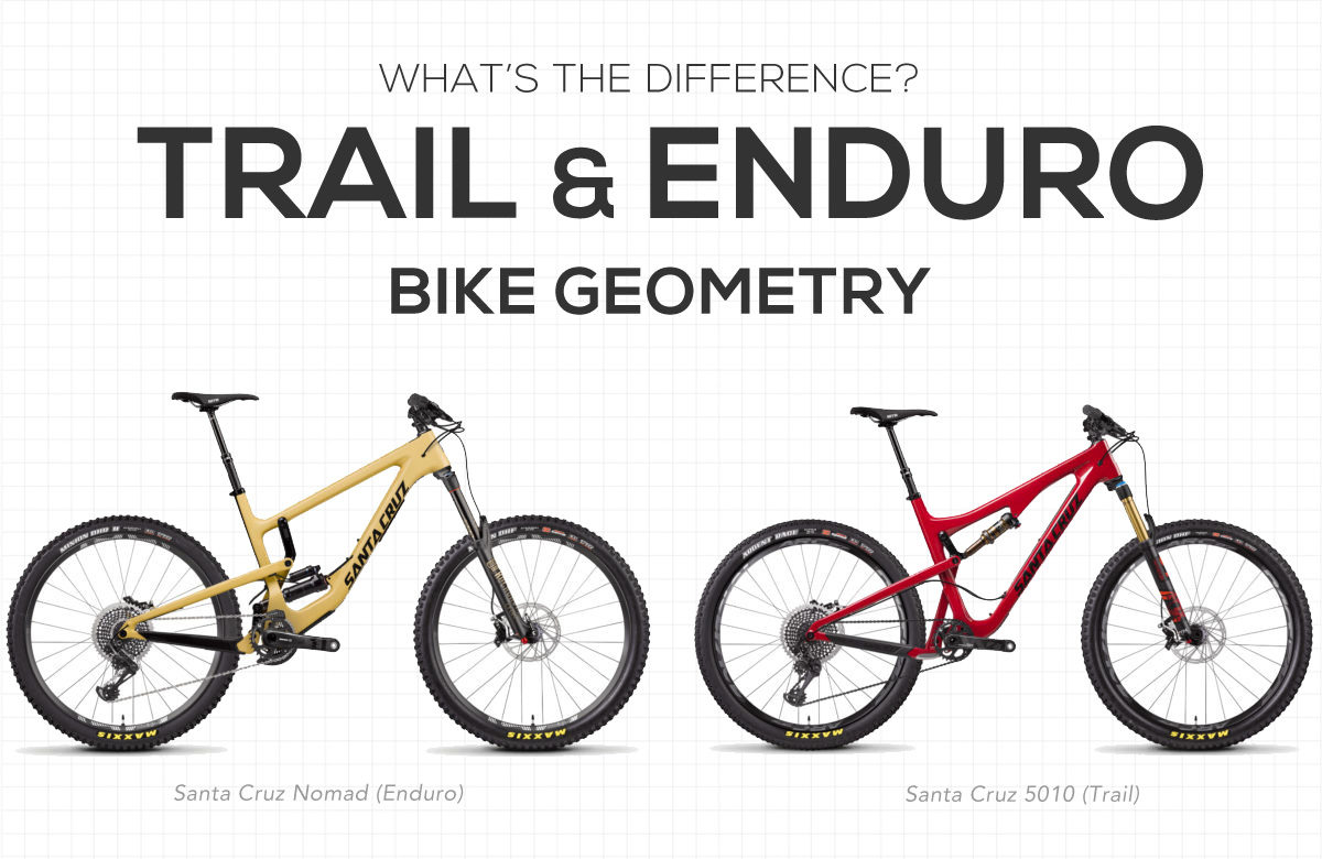 Trail Bike vs Enduro Mountain Bike Geometry Difference