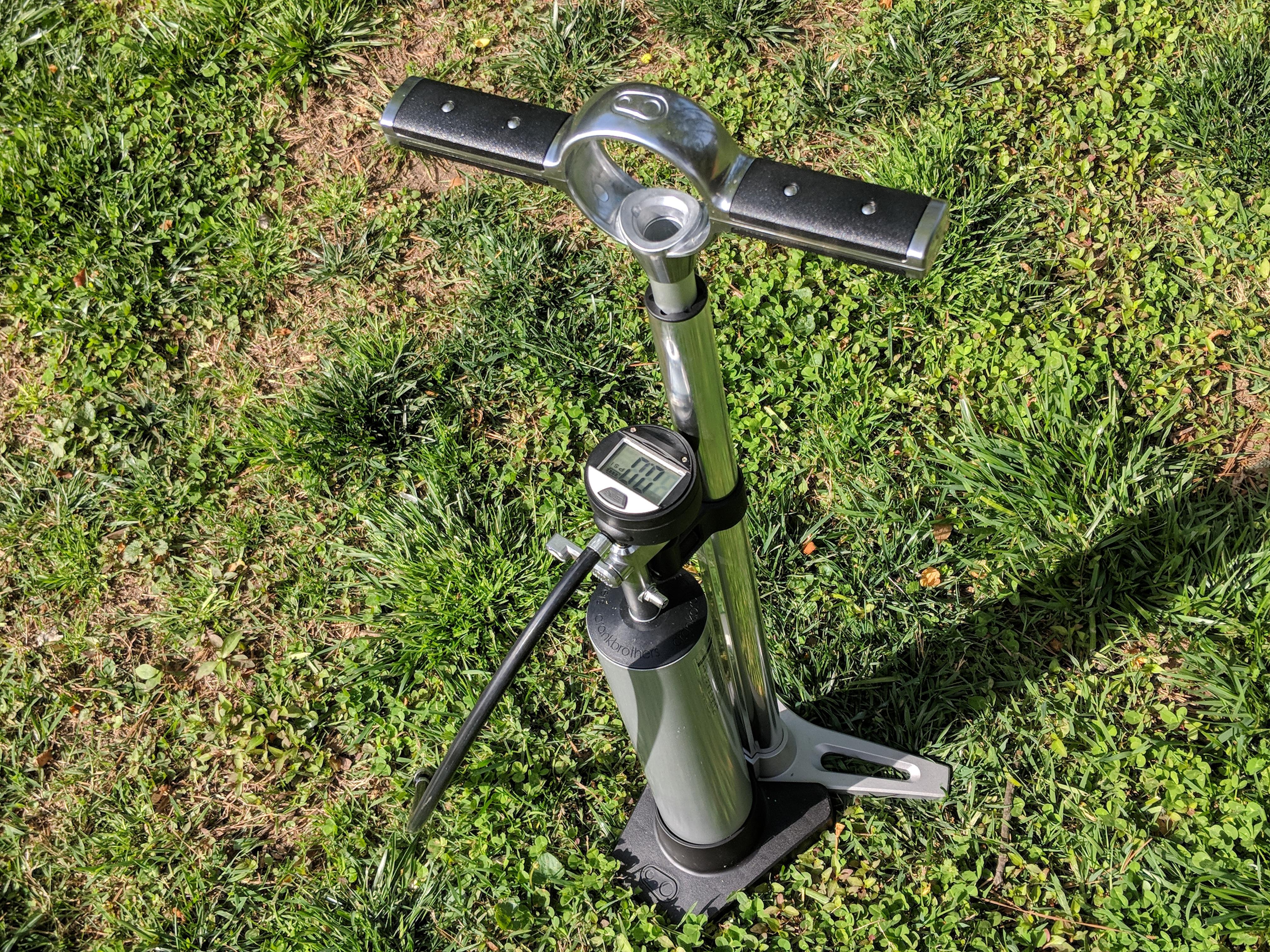 Crank Brothers Klic Floor Bicycle Pump Digital Gauge Compression Canister