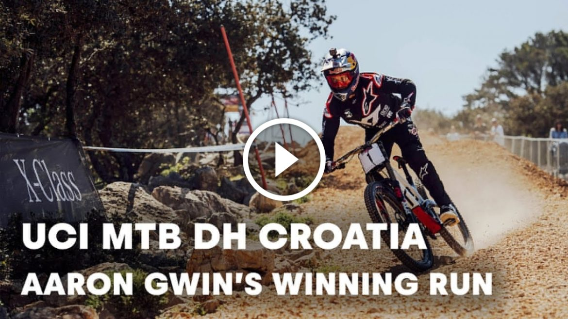 1ca450d5c64 ... all over the world for the first round of the UCI DH World Cup. This is  Aaron Gwin's (USA) winning run, beating Luca Shaw (USA) and Dean Lucas  (AUS).