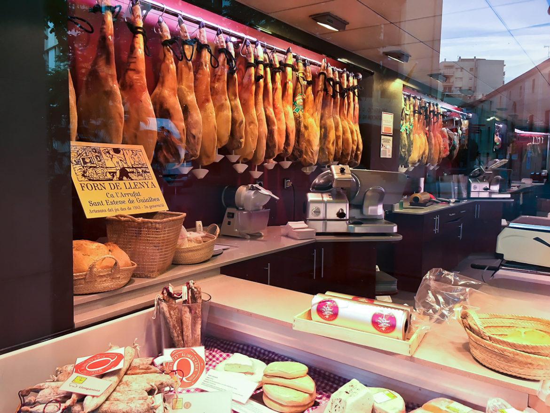 Iberian Ham jamoneria Girona Spain
