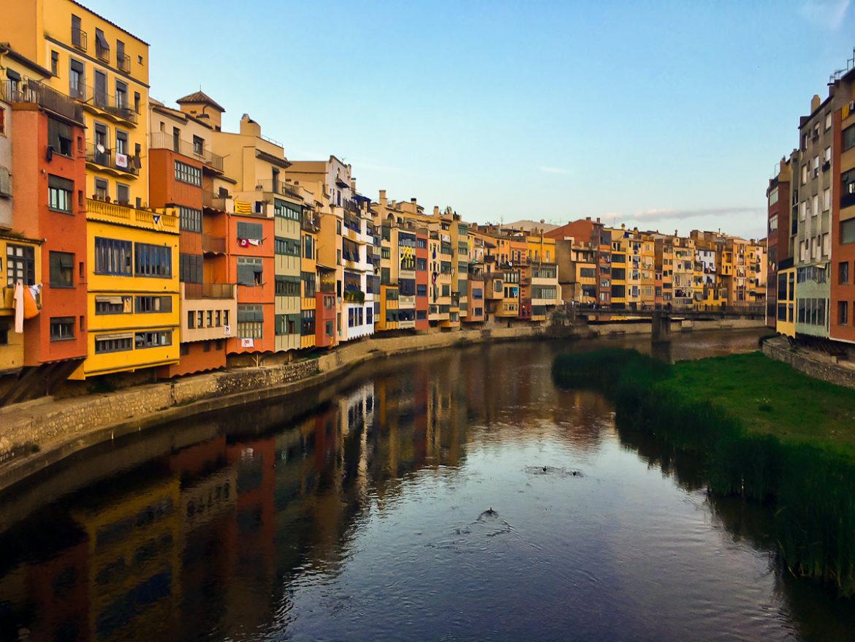 Houses River Onyar Girona Spain Sea Otter Europe