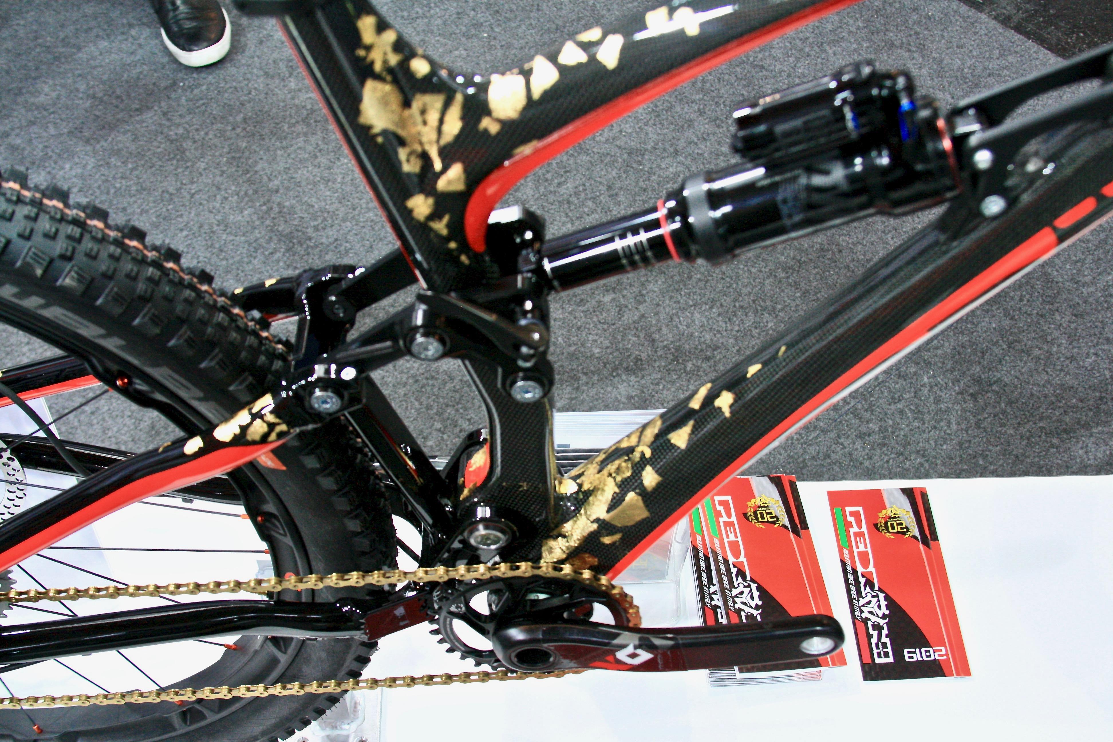 3f9fddd47a0 A Gold Leaf Covered Italian Enduro Bike from Pedroni Cycles - Singletracks  Mountain Bike News
