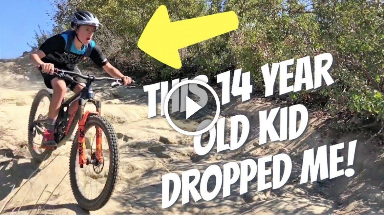 6f6c12d15 Watch  Getting Dropped By a Kid Mountain Biking! - Singletracks ...