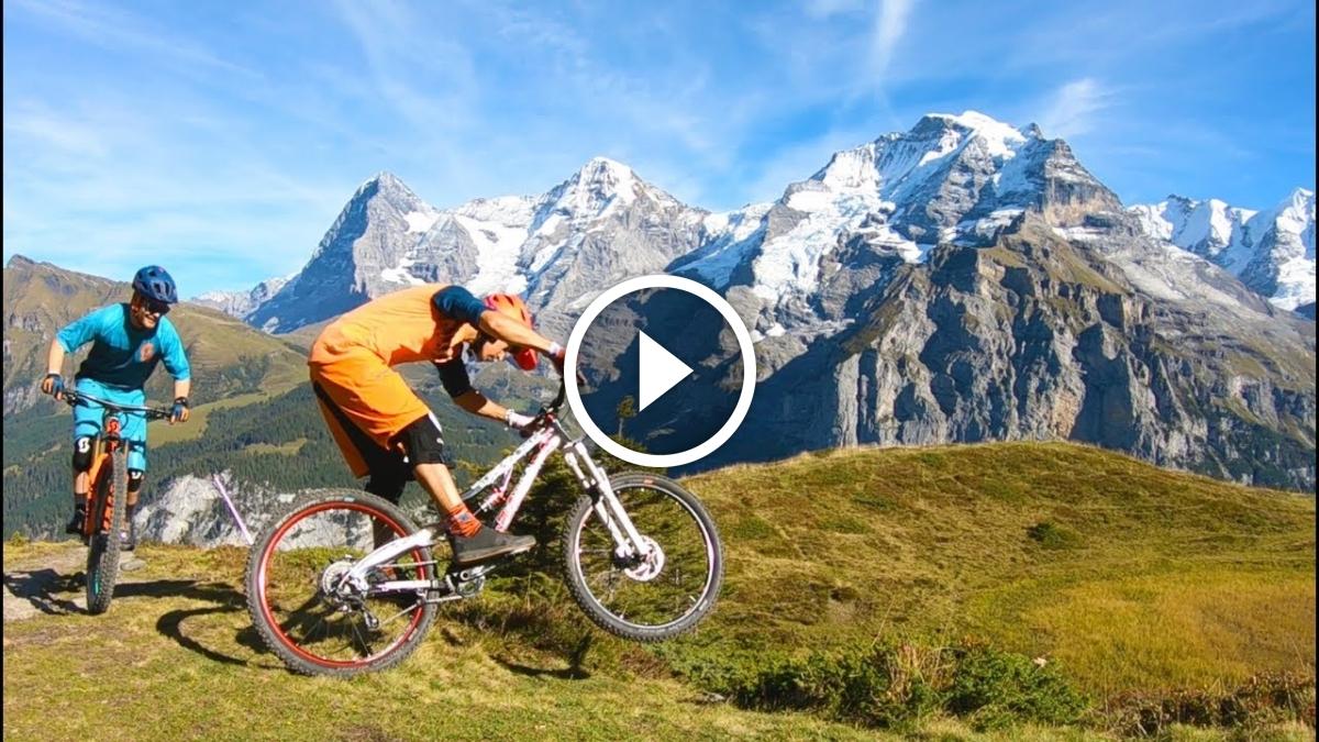 Watch: Mountain Biking Mountain View Trail Mürren, Switzerland