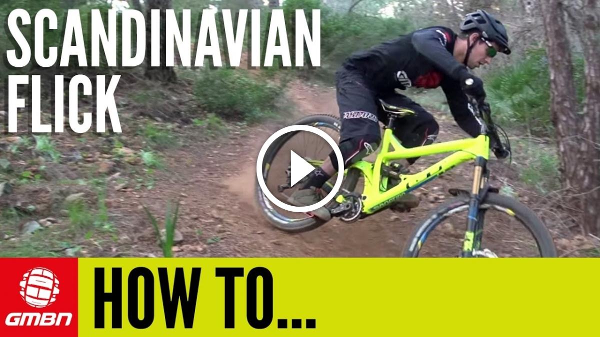 Watch: How To Do A Scandinavian Flick on a Mountain Bike
