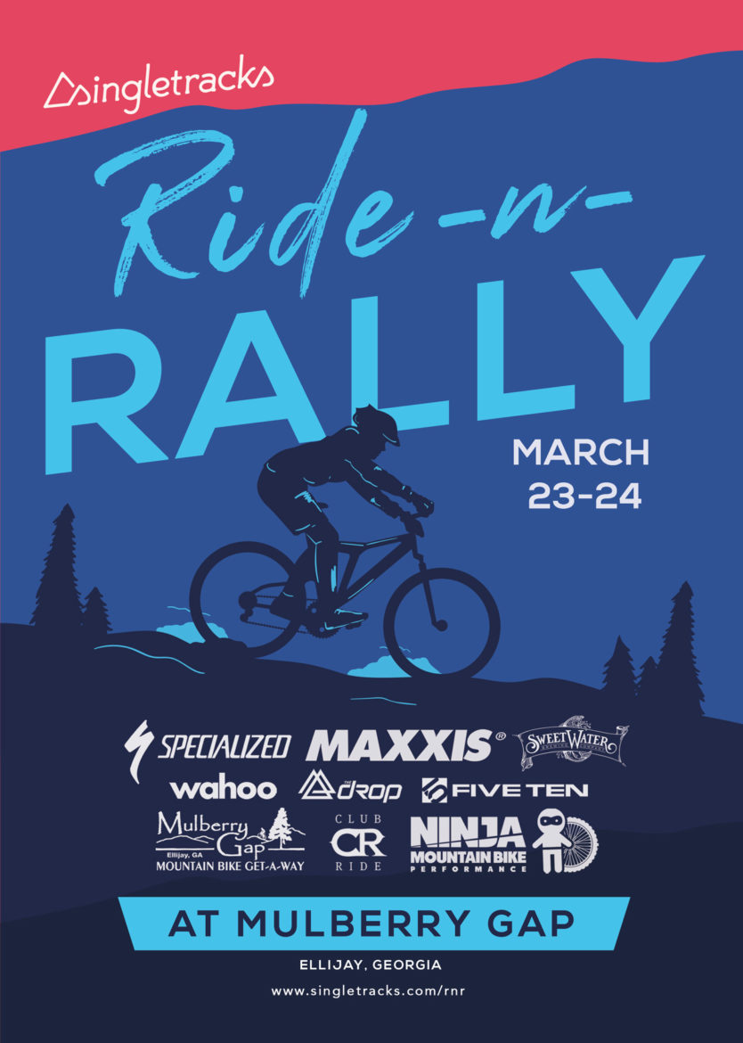 Singletracks Ride n Rally at Mulberry Gap Poster Logos Final