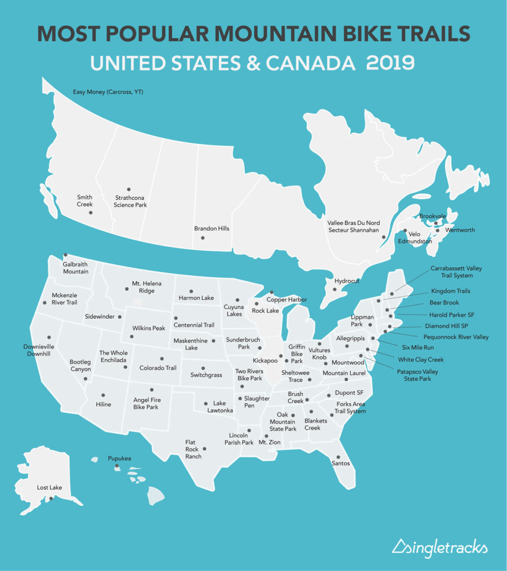 Most Popular Mountain Bike Trails in the US and Canada, State-by-State (2019) - Singletracks Mountain Bike News