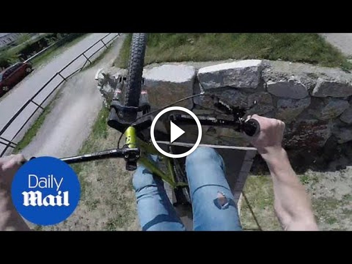 Watch: Mountain Biker's Handlebar Snaps Mid-Air - Singletracks Mountain Bike News