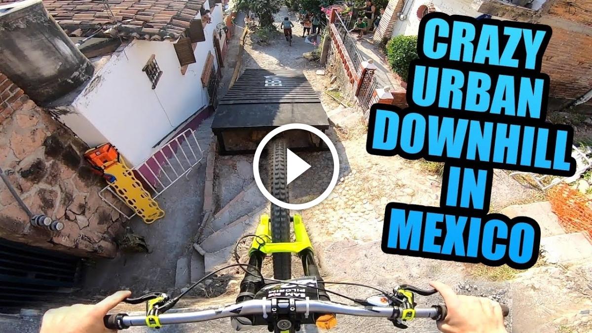 Watch: Crazy Urban MTB Downhill POV from Sam Pilgrim - Singletracks Mountain Bike News
