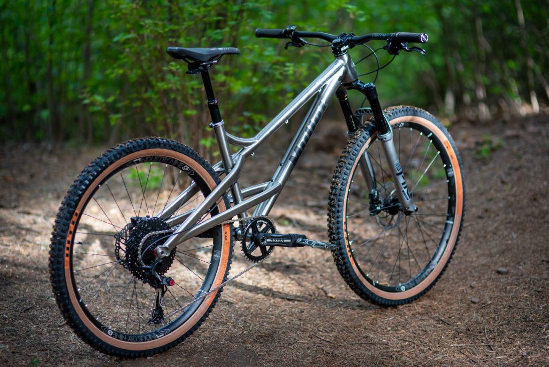 "Mullet Cycles Debuts Their Mixed-Wheel Ti Honeymaker 29""/27.5"" Hardtail - Singletracks Mountain Bike News"