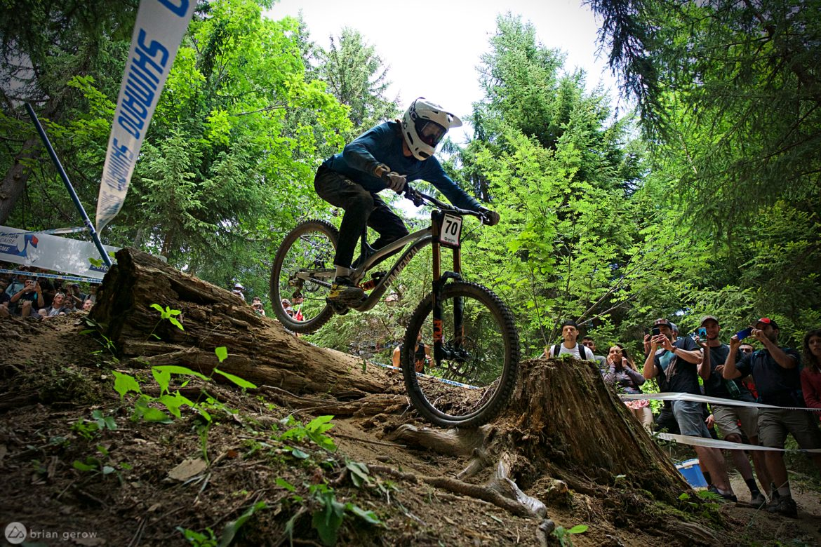 UCI Downhill World Cup in Les Gets: Fast Grass and Road Gaps [Photo Essay] - Singletracks Mountain Bike News