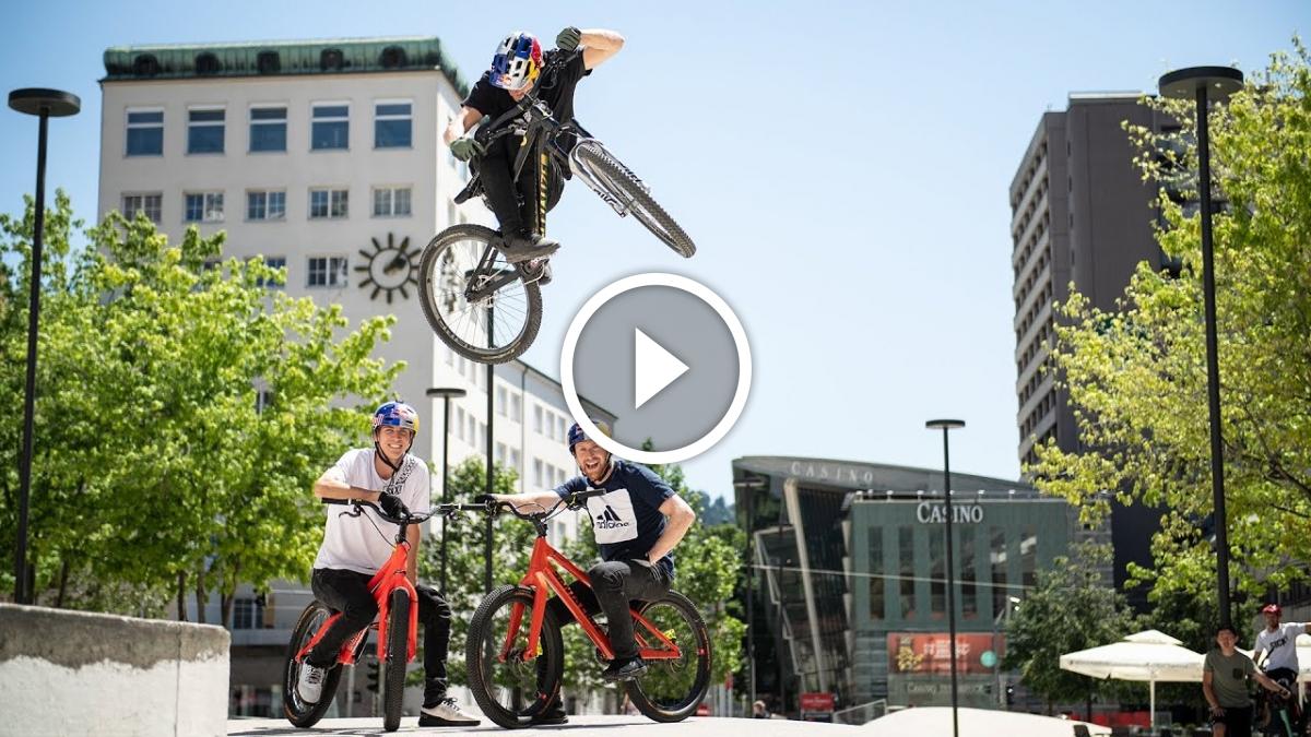 Watch: Street Riding with Danny Macaskill, Martin Söderström and Fabio Wibmer - Singletracks Mountain Bike News