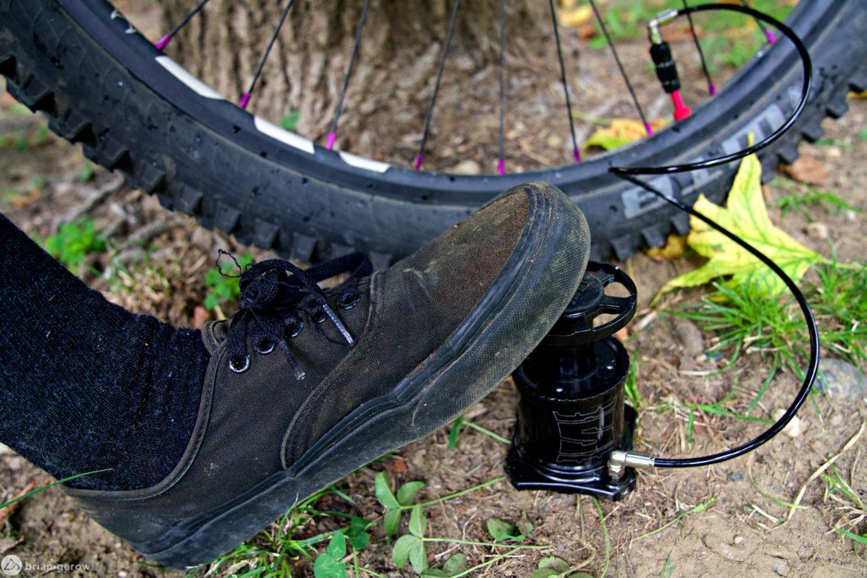 Stompump's Foot-Actuated Bike Pump Leaves Hands Free for Beer and Burritos - Singletracks Mountain Bike News